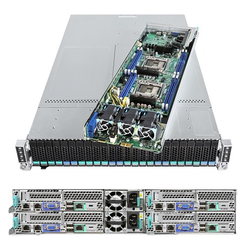 Intel® Server Compute Module HNS2600TP24 and Intel® Server Chassis H2224XXKR2 image